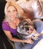 Nikki Moustaki and her dog