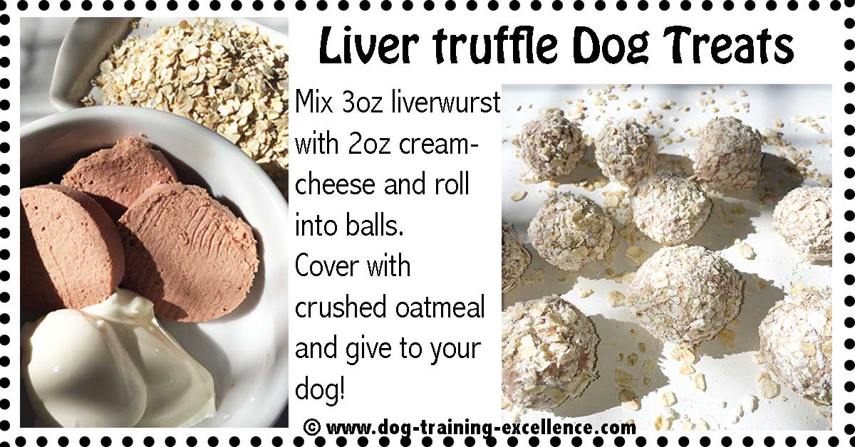 dog truffle treats with liverwurst recipe