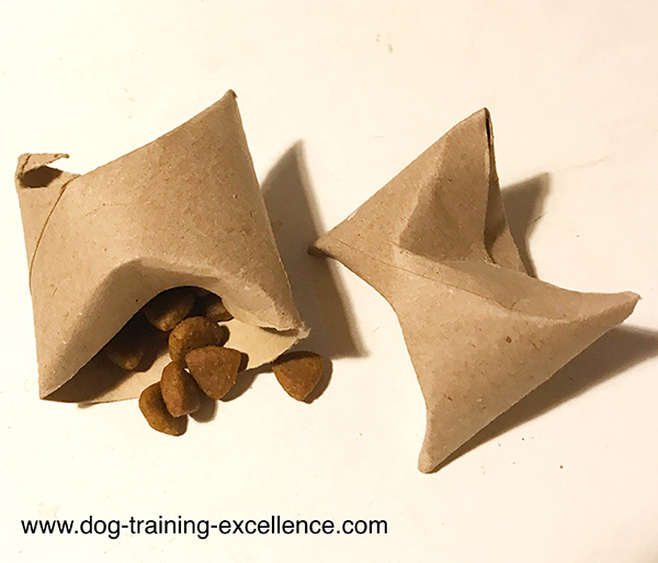 DYI dog toys, home made dog toys, slow feed dog bowls