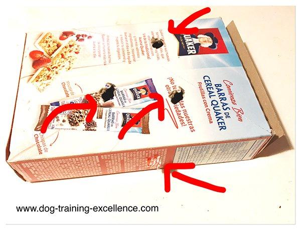 DYI dog toys, home made dog toys, slow feed dog bowls, cardboard dog toys