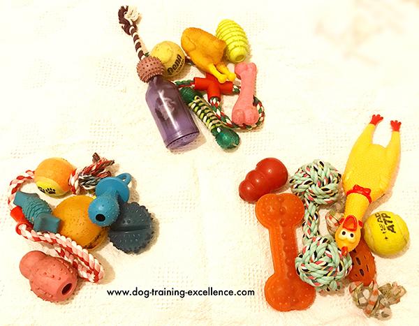 Rotate dog toys